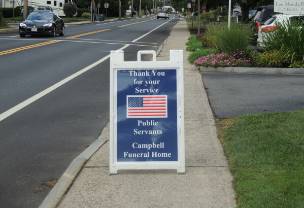 Thank you for your service sign