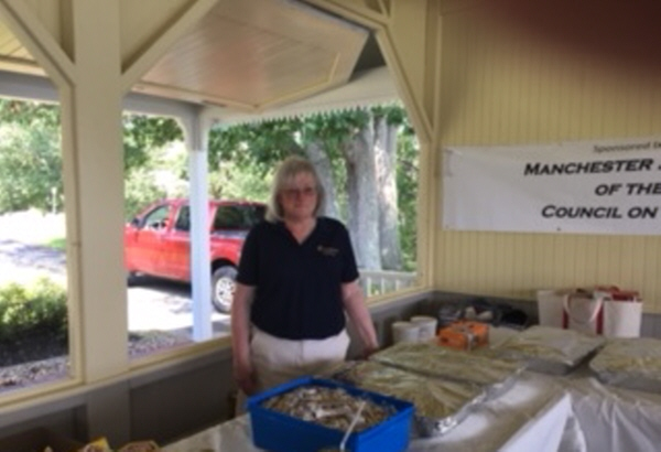 Cheryl Rust, Office Clerk assisted with serving the meal