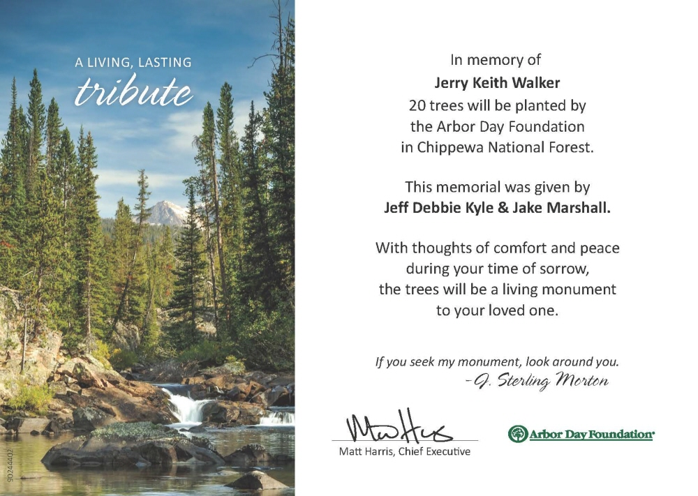 Jerry Keith Walker Obituary - Visitation & Funeral Information