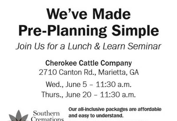 Join us for a complimentary lunch and pre-planning seminar.