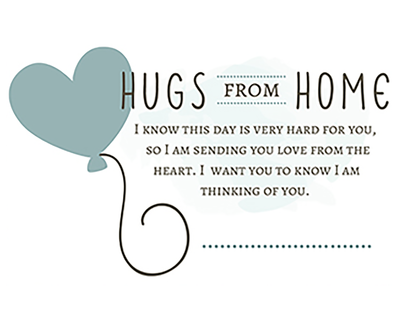Hugs from Home